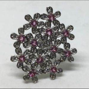 Pink Sapphire s925 Silver Ring size 7